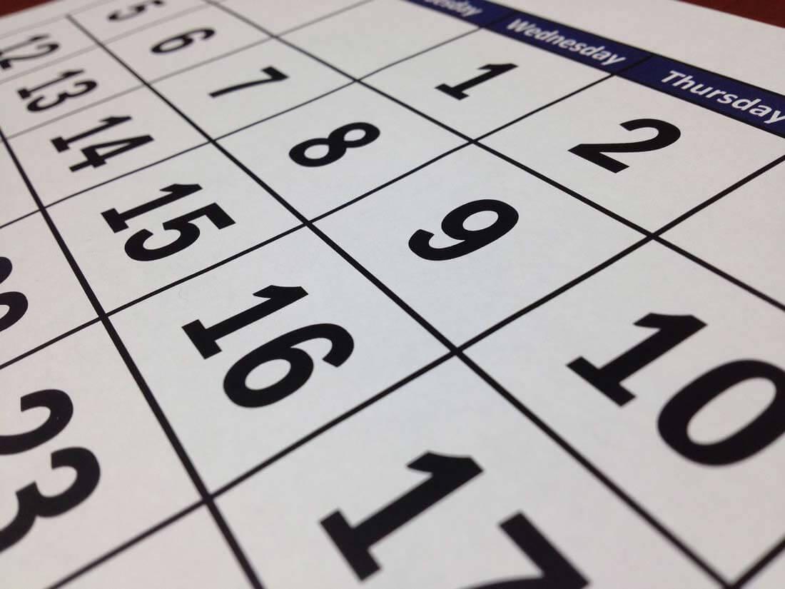 Ein Kalender zeigt den 15. eines Monats. Quelle: pixabay