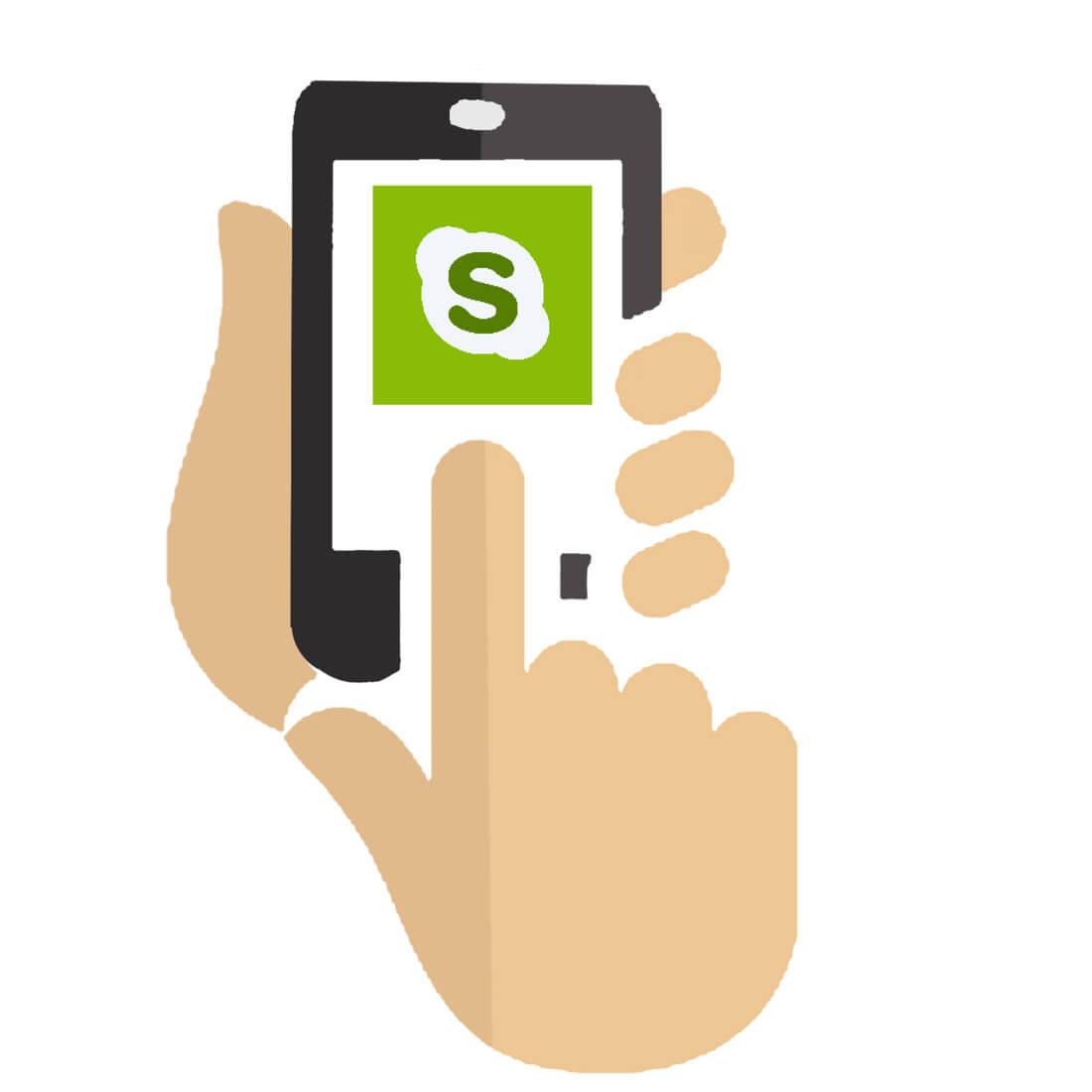 Der virtuelle Assistent ist per skype erreichbar. Quelle: pixabay